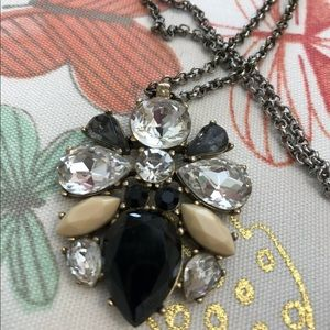 J.Crew bee pendant long strand crystal necklace
